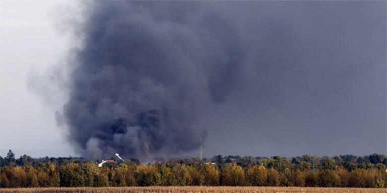 Sondermüll-Deponie in NÖ in Flammen