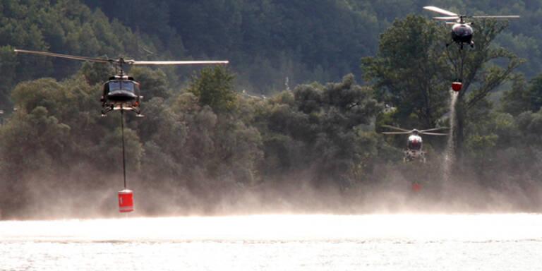 Gewitter lösen Waldbrand bei Salzburg aus
