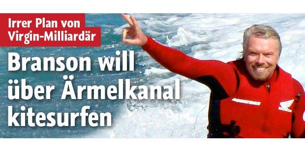 Branson will über Ärmelkanal kitesurfen