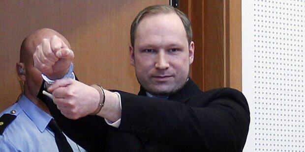 Rummel um Gerichtsauftritt von Attentäter Breivik