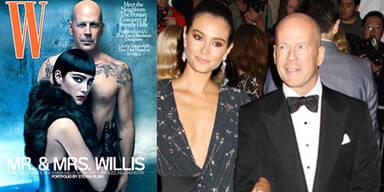 Bruce Willis & seine Emma als SM-Pärchen