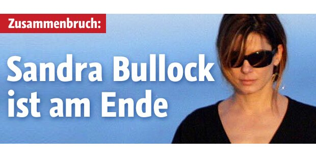 Sandra Bullock: Zusammenbruch!