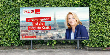 Bures Plakat Wahl SPÖ