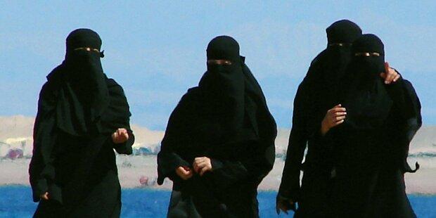 Burka-Verbot: Polizei kontrolliert am Flughafen