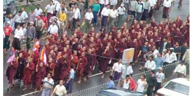 Protest gegen Militärherrschaft in Burma hält an