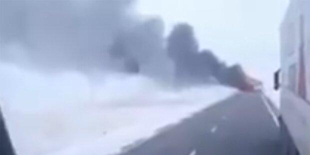 Bus geriet in Brand: Mehr als 50 Tote