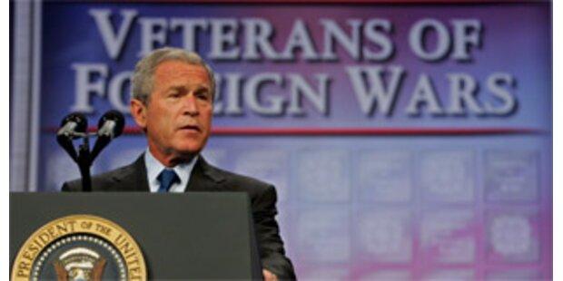 Bush sieht im Irak-Krieg Parallelen zum 2. Weltkrieg