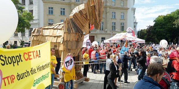 CETA-Streit: Kurz dafür, Kern sagt Nein