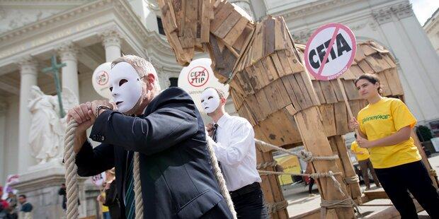 Proteste gegen CETA: