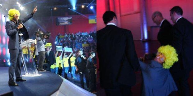 Biene Maja crasht ÖVP-Wahlkampf-Auftakt