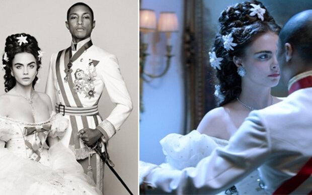 Cara und Pharrell als Sissi & Franz