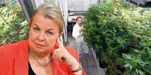 Ministerin baut Cannabis an