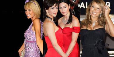 Cannes: Paris Hilton, Sophie Marceau, Monica Bellucci, Mariah Carey