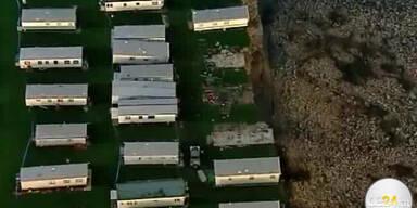 Wohnwagensiedlung droht Sturz in Abgrund