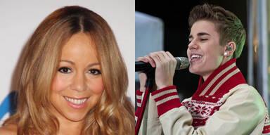 Mariah Carey und Justin Bieber