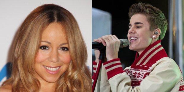 Justin Bieber singt mit Mariah Carey