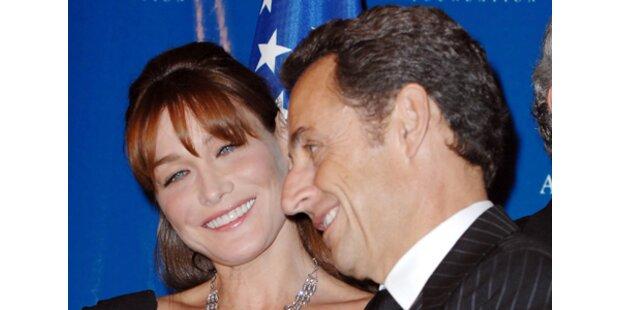 Erster Hochzeitstag im Hause Sarkozy