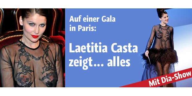 Laetitia Casta mit offenherzigem Outfit