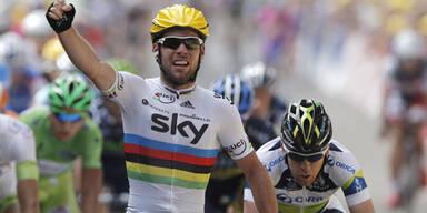 Etappen-Sieg für Sprinter Cavendish