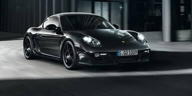 Porsche Cayman S Black Edition startet