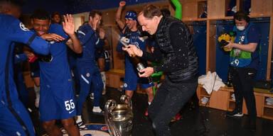 Kabinen-Party: So wild feiert Chelsea den CL-Triumph