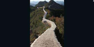 SO zementiert China die Große Mauer zu