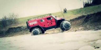 Neues Riesenauto stellt Hummer in den Schatten