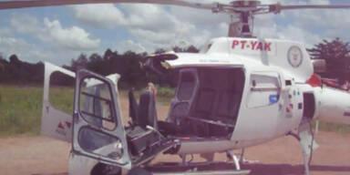 Helikopter bricht bei Landung auseinander