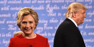 Hillary jubelt, Trump jammert