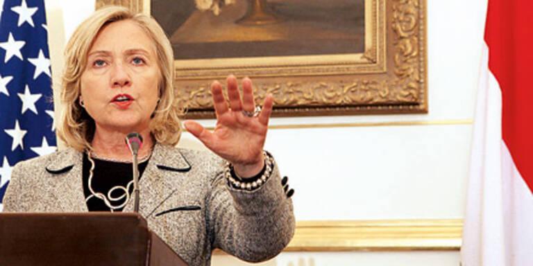 US-Außenministerin Clinton hört auf.