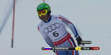 Alexander Khoroshilov nah an Hirscher dran