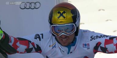Marcel Hirscher mit Bestzeit im ersten Lauf