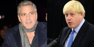 Gerorge Clooney und  Boris Johnson