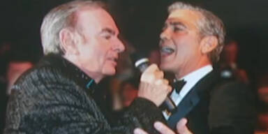 George Clooney singt mit Neil Diamond
