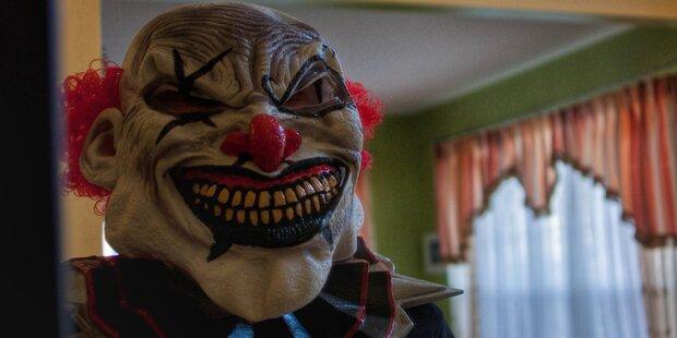 Vater jagte Tochter mit Clownsmaske: Nachbar schoss