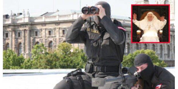 2.200 Sicherheitskräfte schützen den Papst