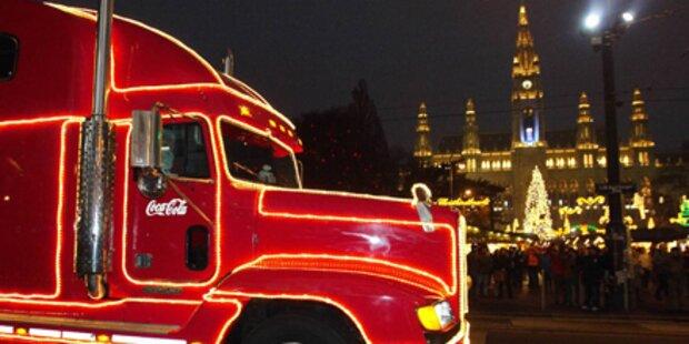 Der Coca-Cola Weihnachtstruck kommt