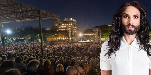 Conchita: Neue Lieder am Strand