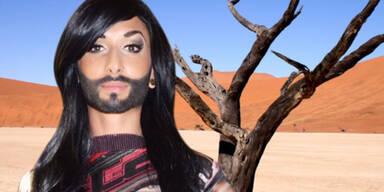 Conchita Wurst in der Wüste