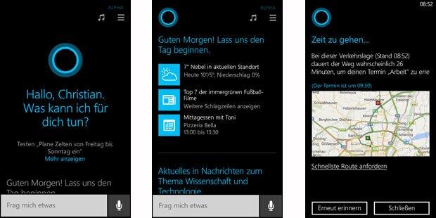 Cortana spricht jetzt auch Deutsch
