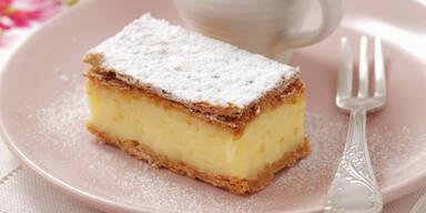 Cremeschnitte mit Pudding