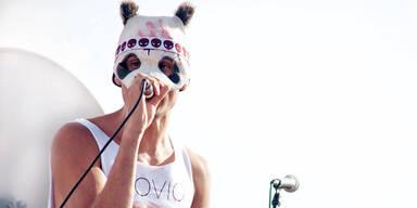 Panda-Rapper Cro Am Samstag live