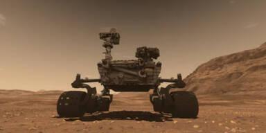 Mars-Rover feuerte mit Laser auf Stein