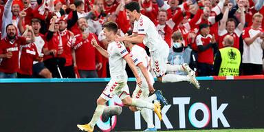 Dänemark träumt gegen Wales vom Viertelfinale