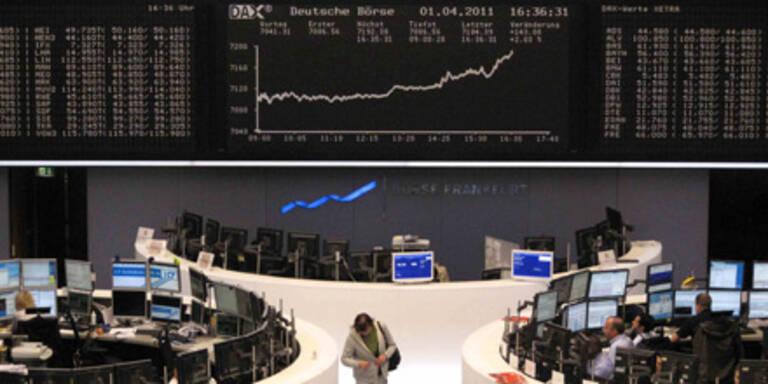 Europas Börsen mehrheitlich fester