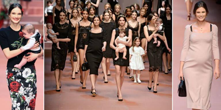 Die Herbstkollektion von Dolce & Gabbana war eine Hommage an Mütter und Mutterliebe.