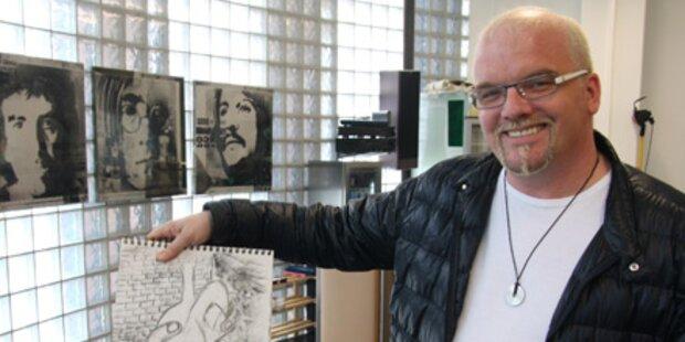 Zweitjob: DJ Ötzi zeigt seine Gemälde