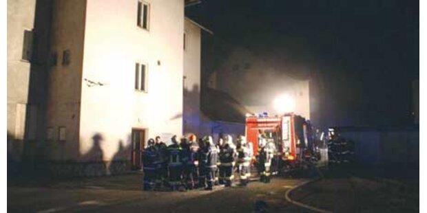 Wohnhaus in Brand gesetzt