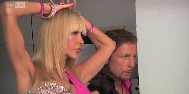 Die Dancing Stars beim ersten Fotoshooting