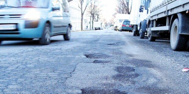 Teure Frostschäden auf den OÖ-Straßen